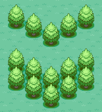 Pine diagonal row and group.png