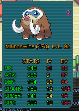 An example of how your Pokémon would be displayed if hotlinked in the game channels.